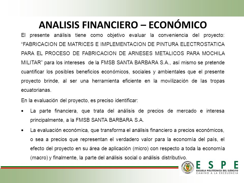 ANALISIS FINANCIERO – ECONÓMICO