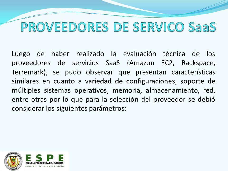 PROVEEDORES DE SERVICO SaaS