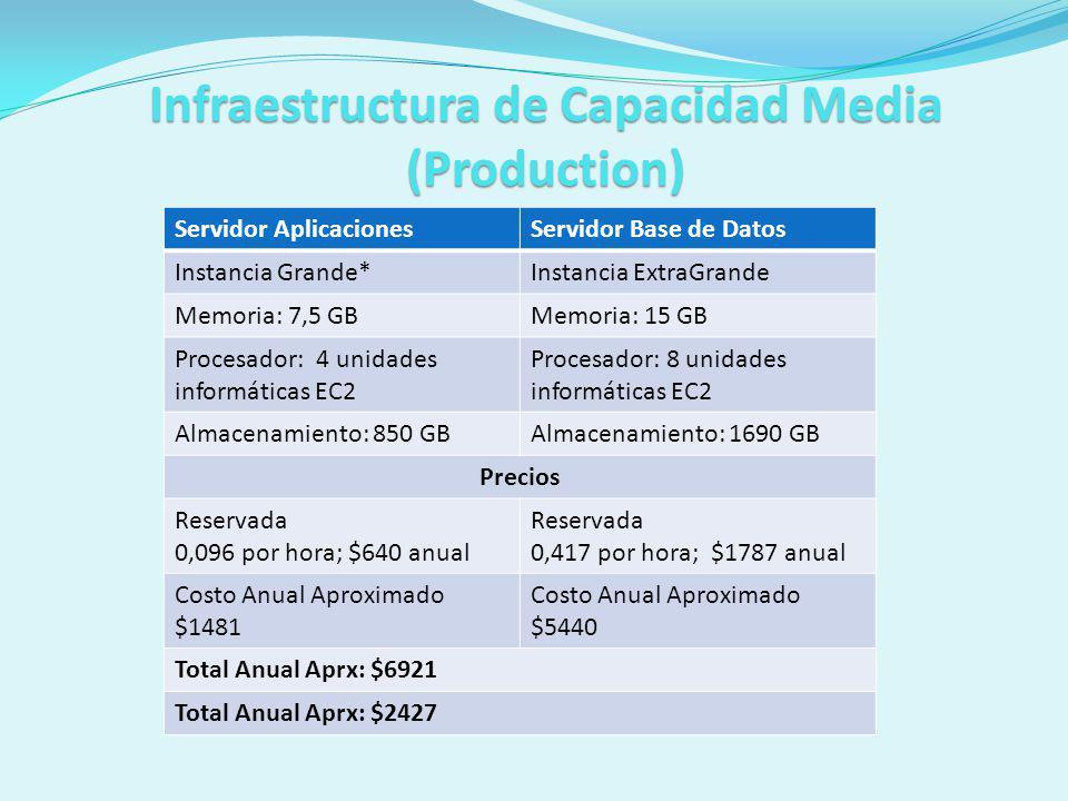 Infraestructura de Capacidad Media (Production)