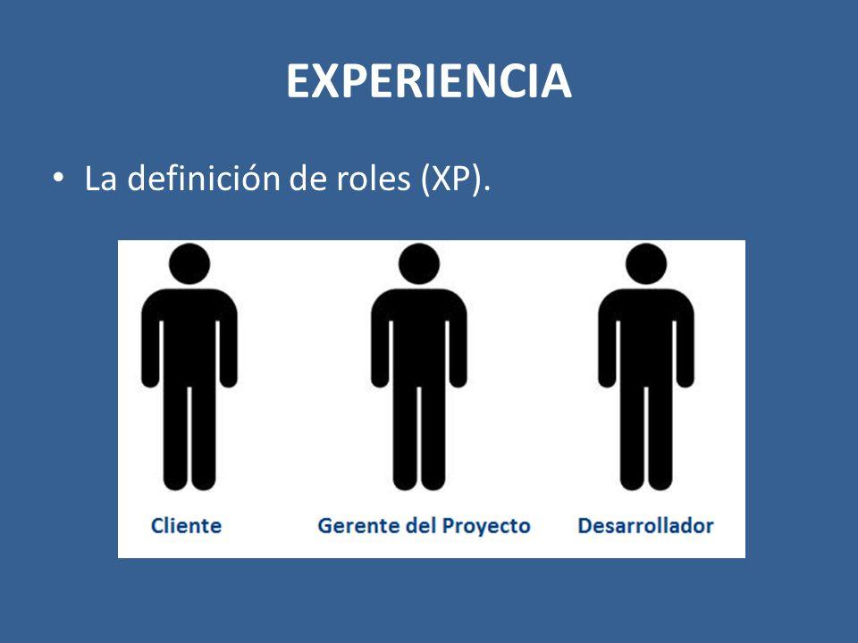 EXPERIENCIA La definición de roles (XP).