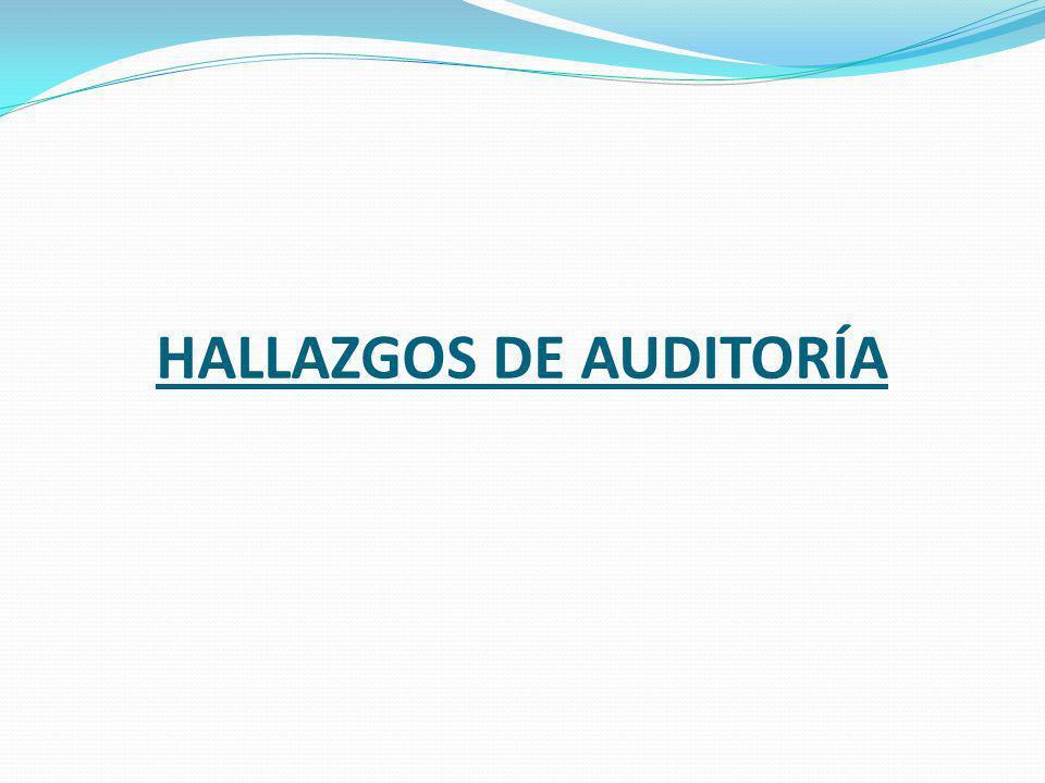 HALLAZGOS DE AUDITORÍA
