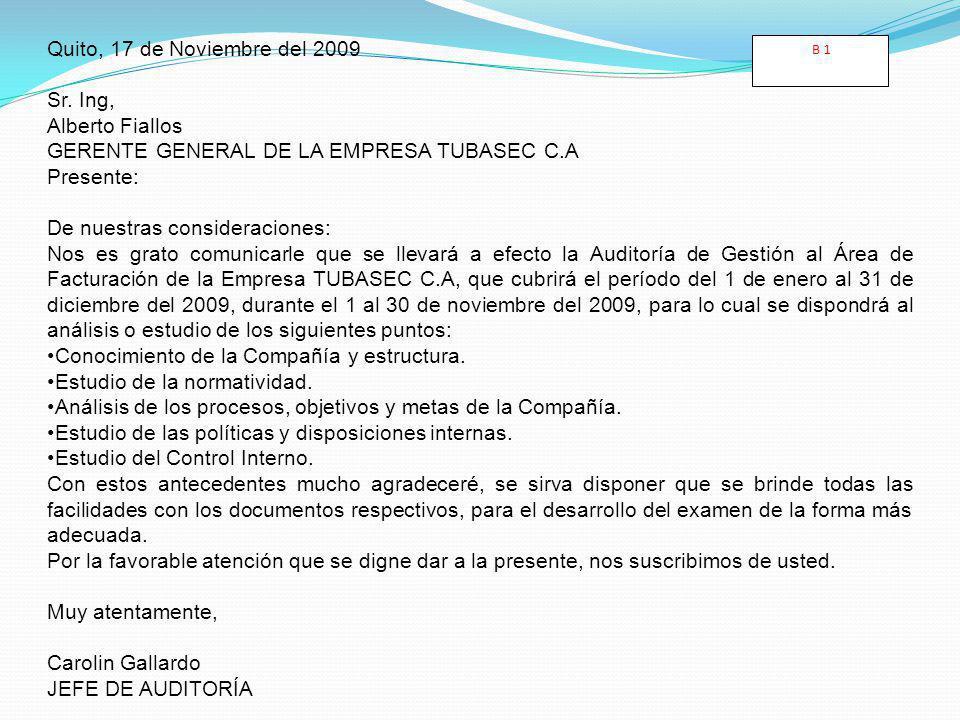 GERENTE GENERAL DE LA EMPRESA TUBASEC C.A Presente: