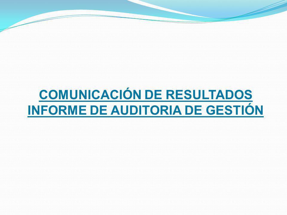 INFORME DE AUDITORIA DE GESTIÓN