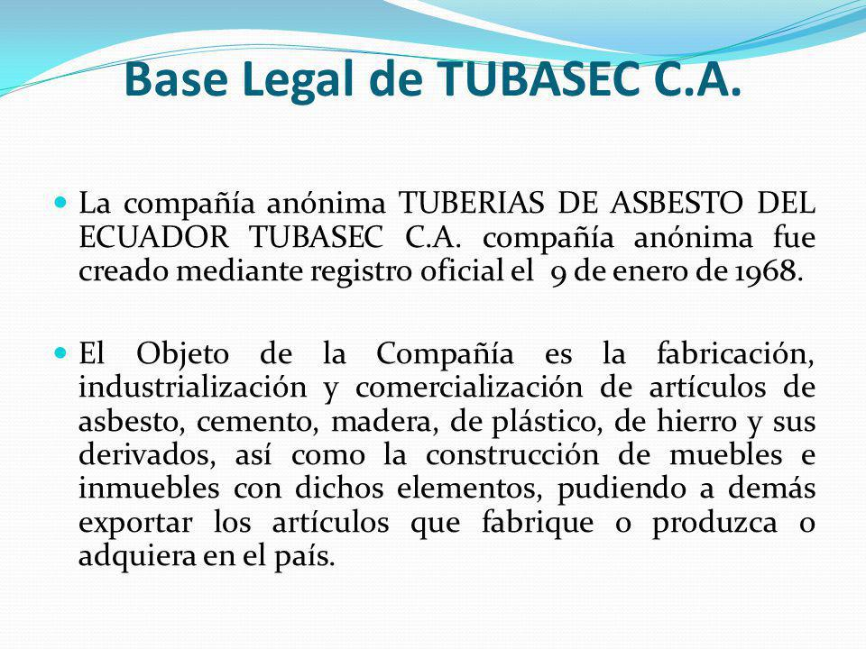 Base Legal de TUBASEC C.A.