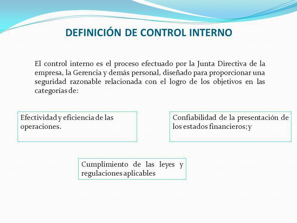 DEFINICIÓN DE CONTROL INTERNO