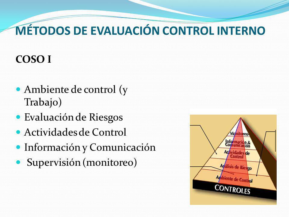 MÉTODOS DE EVALUACIÓN CONTROL INTERNO