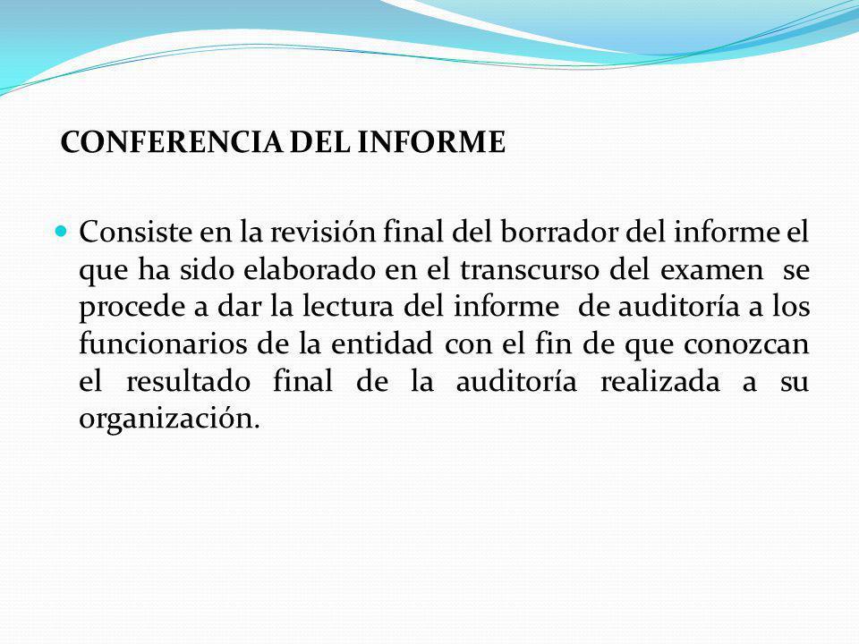 CONFERENCIA DEL INFORME