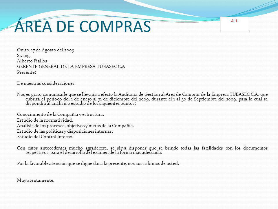 A 1 ÁREA DE COMPRAS.