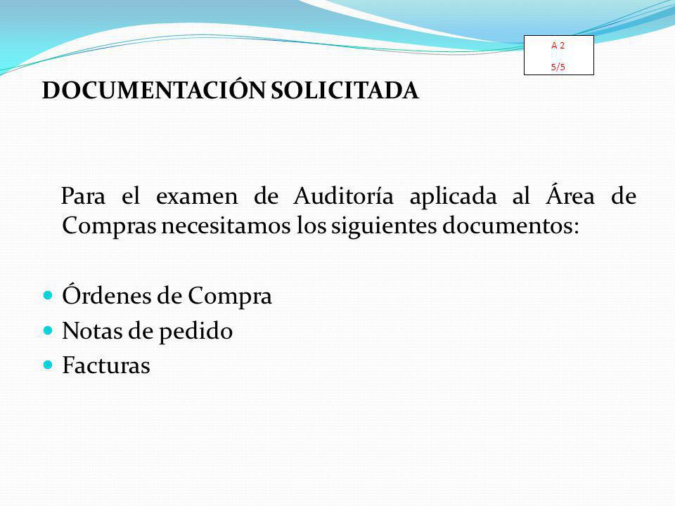 DOCUMENTACIÓN SOLICITADA