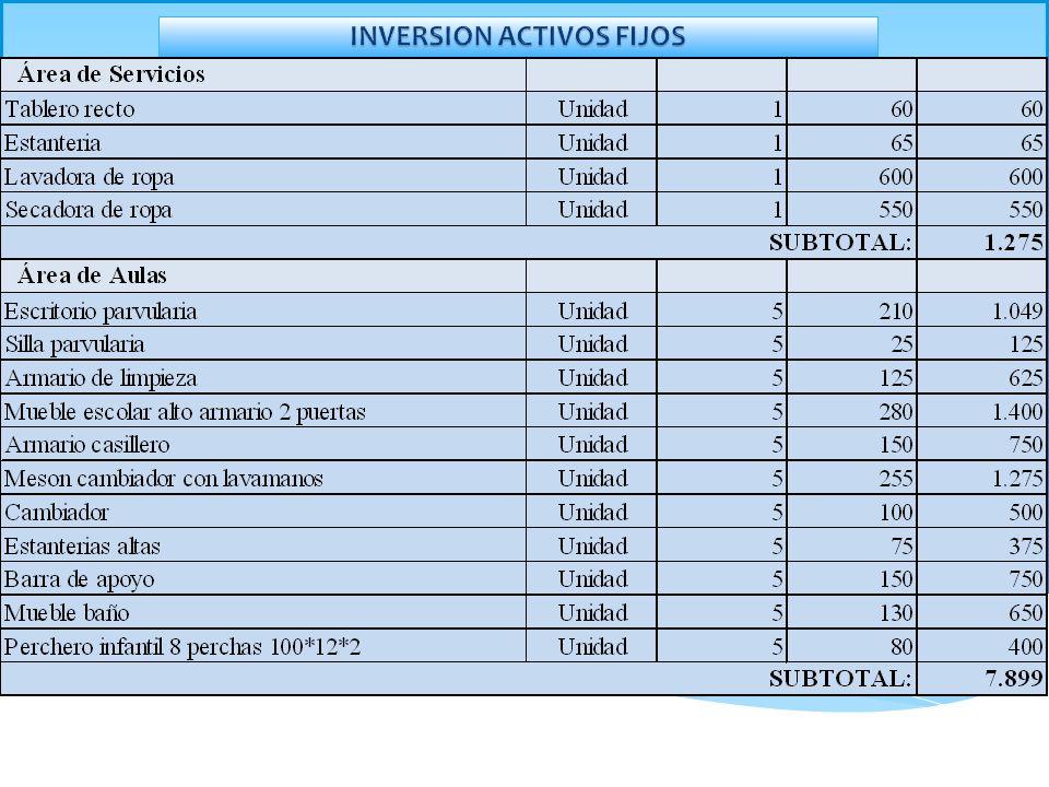 INVERSION ACTIVOS FIJOS