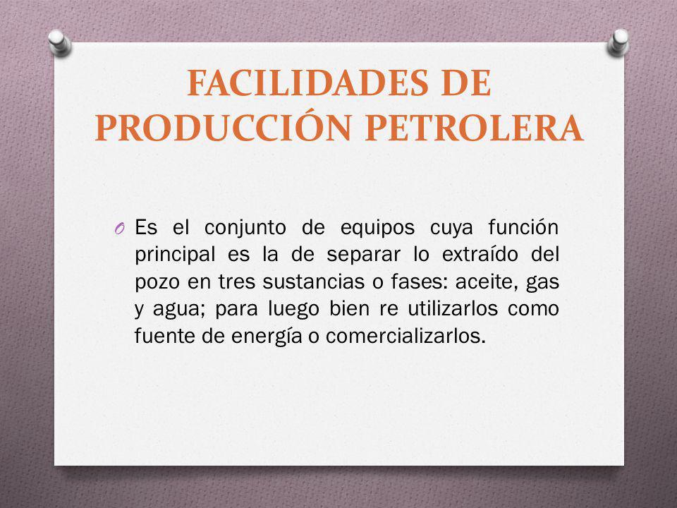 FACILIDADES DE PRODUCCIÓN PETROLERA