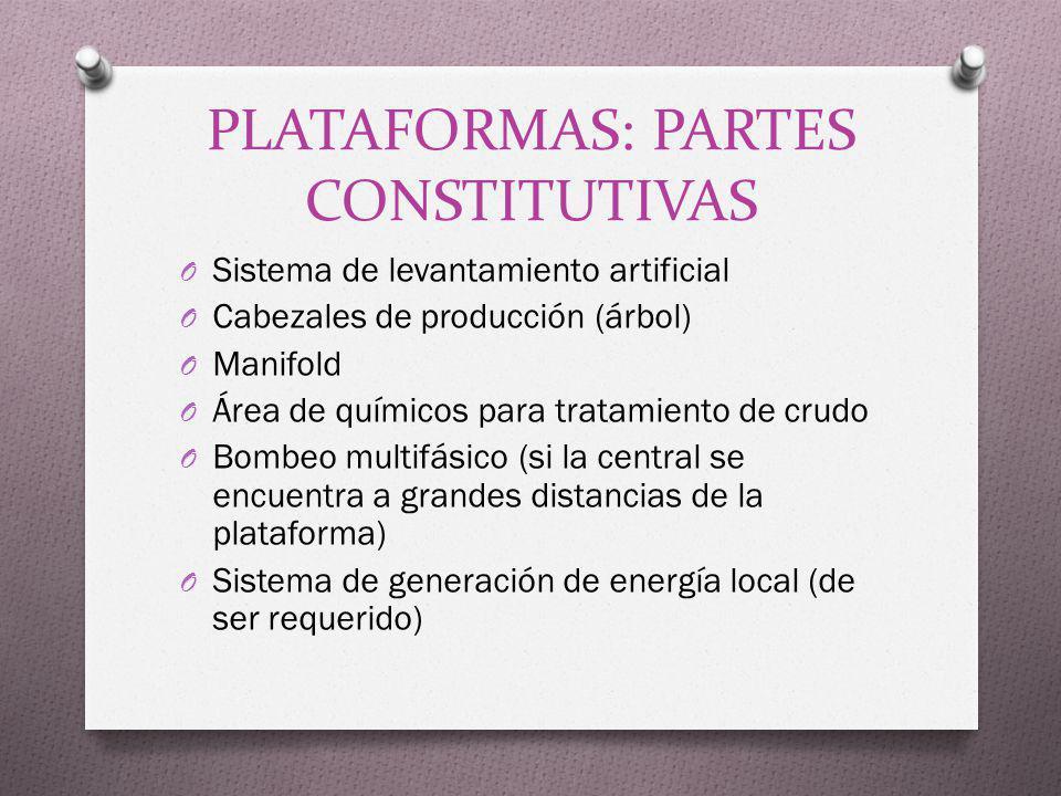 PLATAFORMAS: PARTES CONSTITUTIVAS