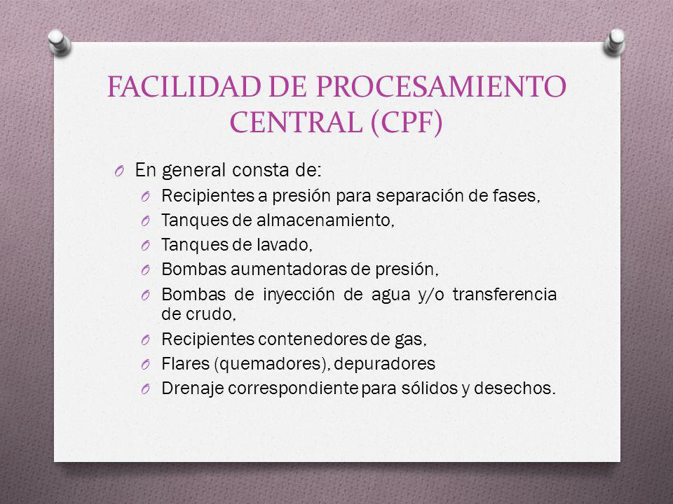 FACILIDAD DE PROCESAMIENTO CENTRAL (CPF)