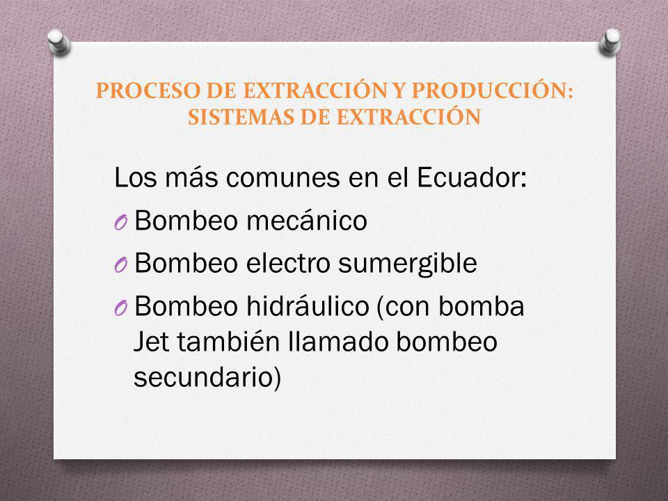PROCESO DE EXTRACCIÓN Y PRODUCCIÓN: SISTEMAS DE EXTRACCIÓN