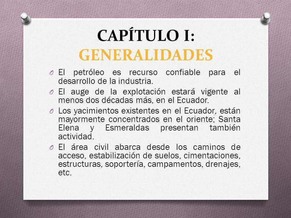CAPÍTULO I: GENERALIDADES