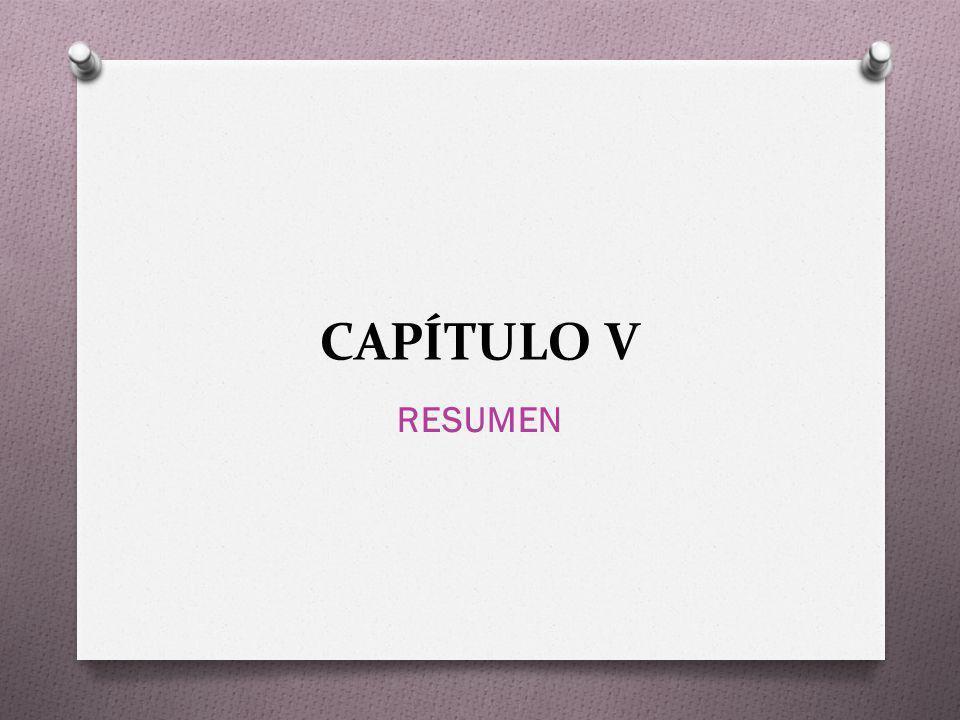 CAPÍTULO V RESUMEN