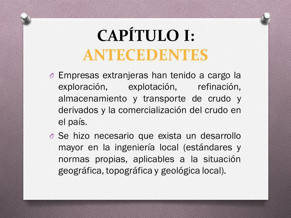 CAPÍTULO I: ANTECEDENTES