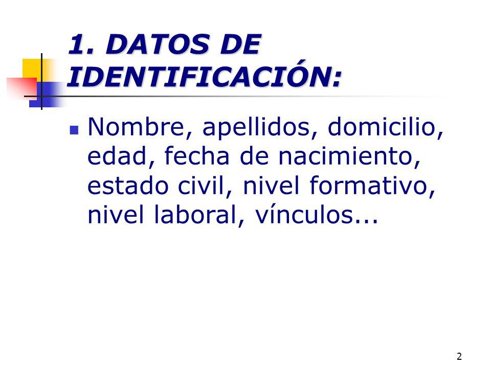 1. DATOS DE IDENTIFICACIÓN:
