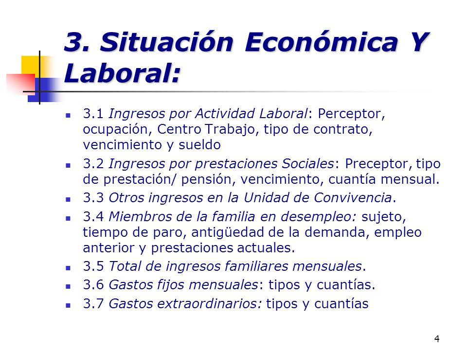 3. Situación Económica Y Laboral: