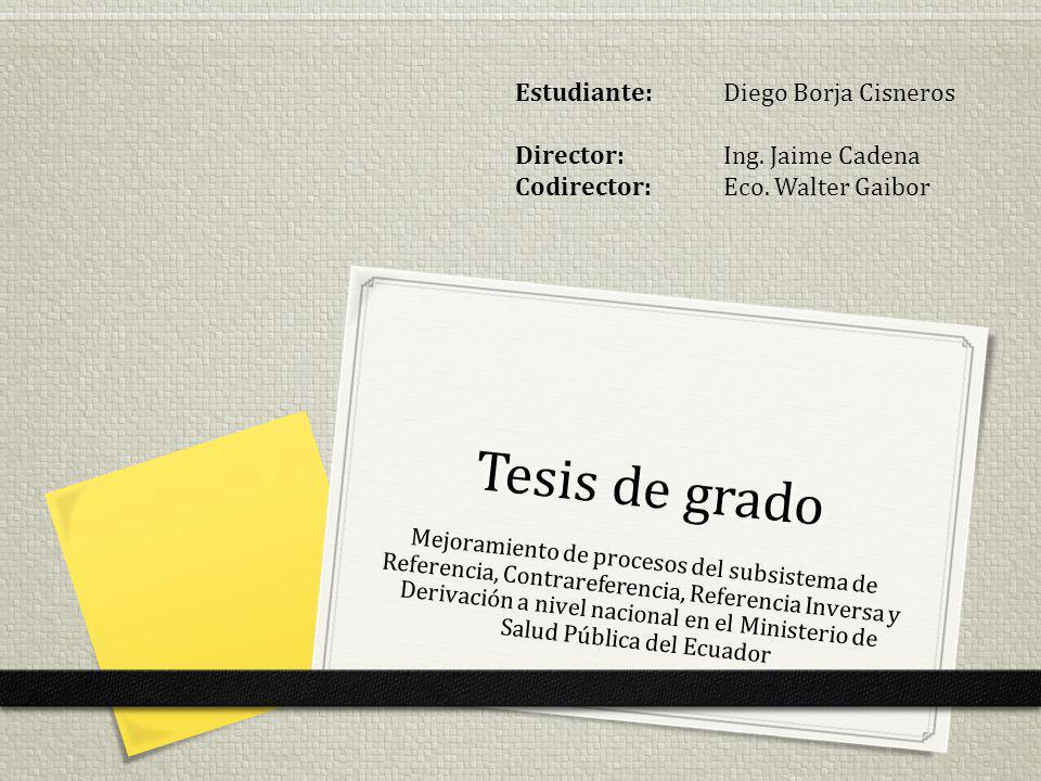 Tesis de grado Estudiante: Diego Borja Cisneros