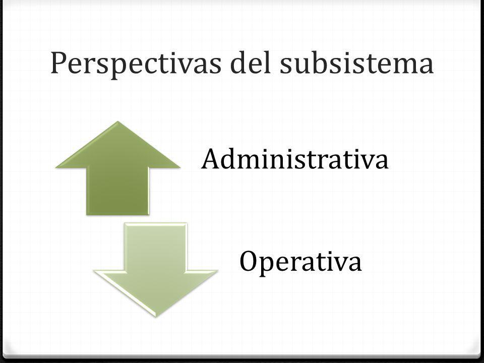 Perspectivas del subsistema