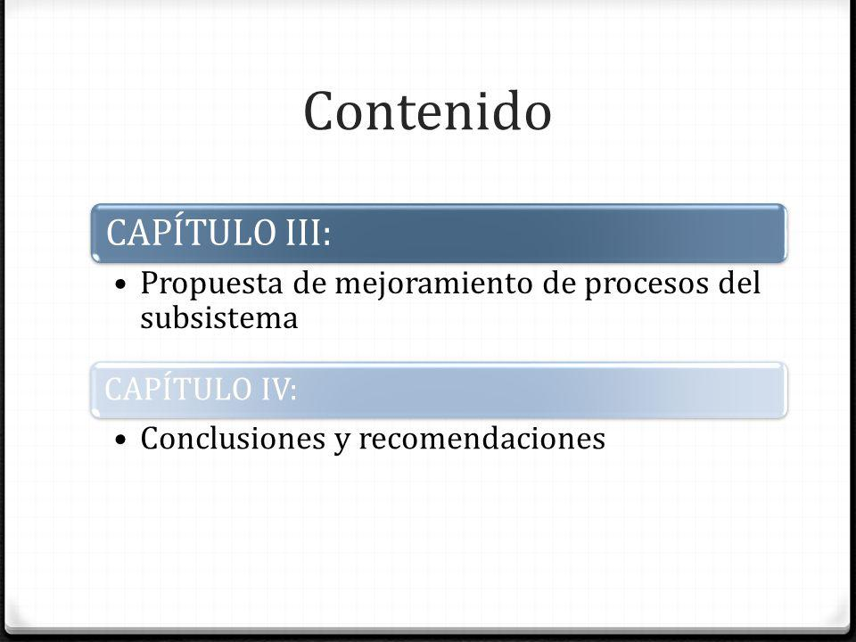 Contenido CAPÍTULO III: