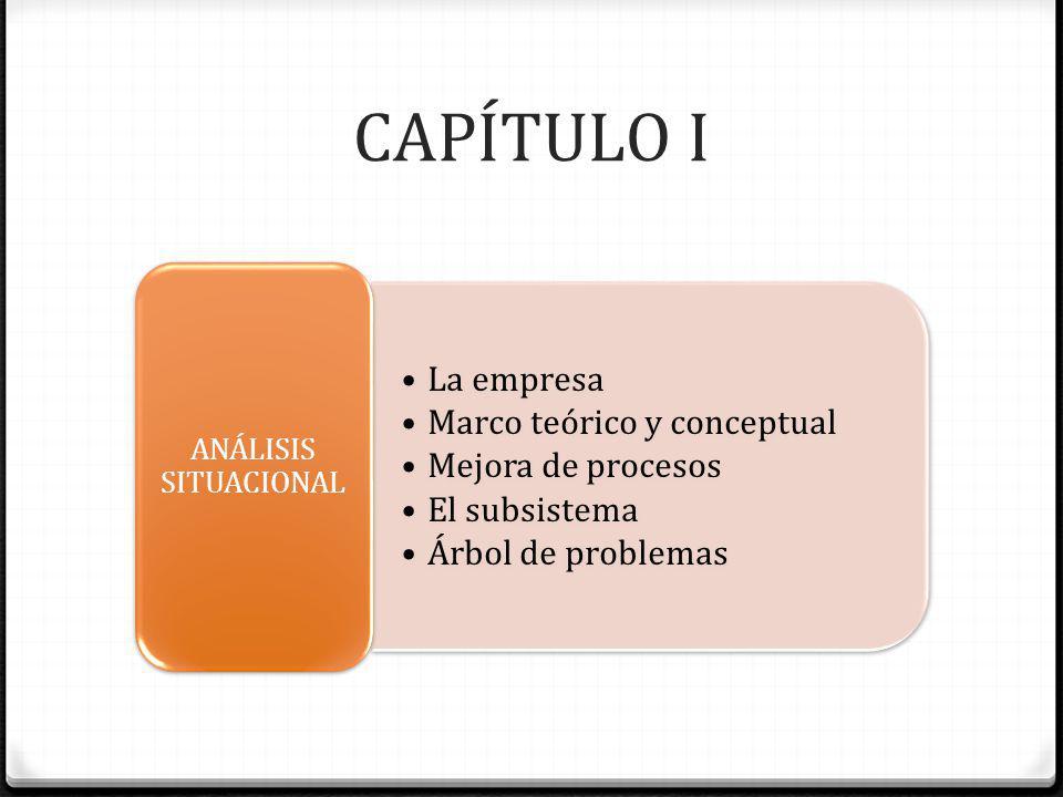 CAPÍTULO I La empresa Marco teórico y conceptual Mejora de procesos
