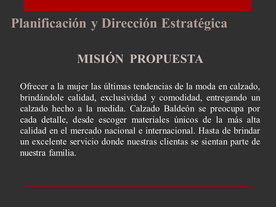 Planificación y Dirección Estratégica