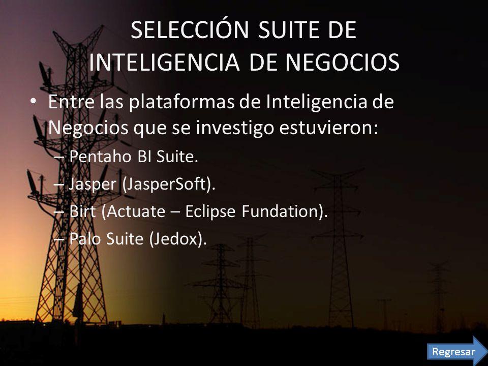 SELECCIÓN SUITE DE INTELIGENCIA DE NEGOCIOS