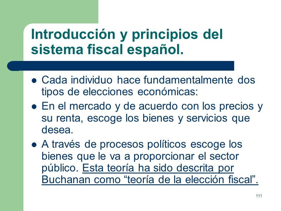 Introducción y principios del sistema fiscal español.
