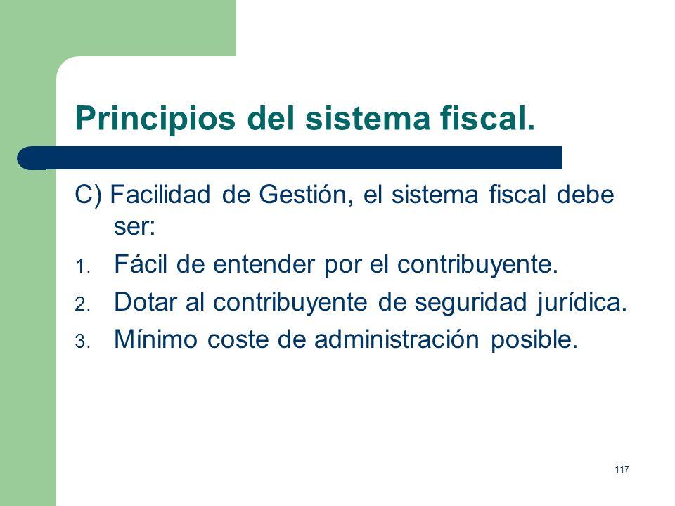 Principios del sistema fiscal.