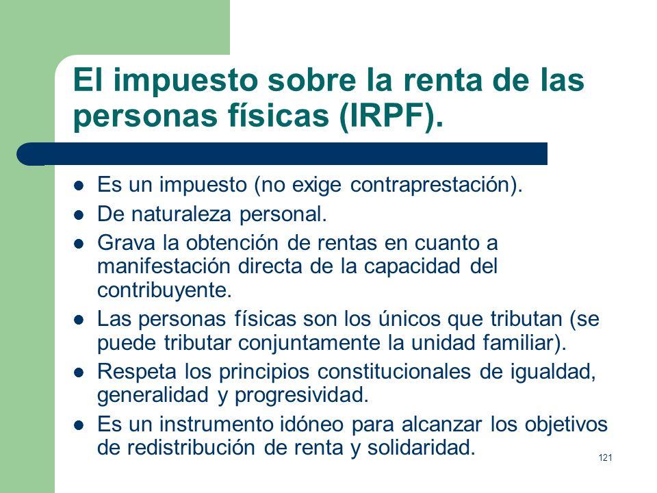 El impuesto sobre la renta de las personas físicas (IRPF).