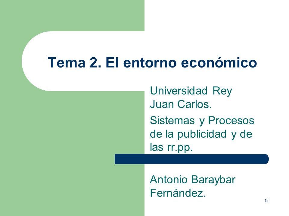 Tema 2. El entorno económico