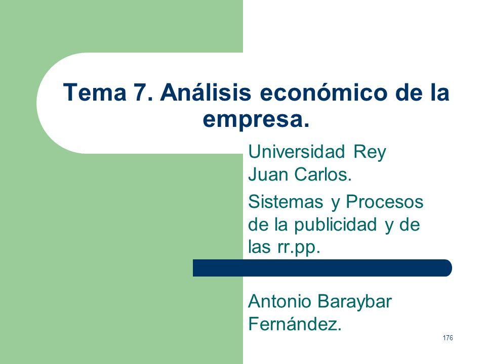 Tema 7. Análisis económico de la empresa.