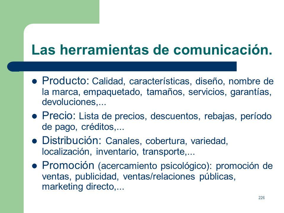 Las herramientas de comunicación.