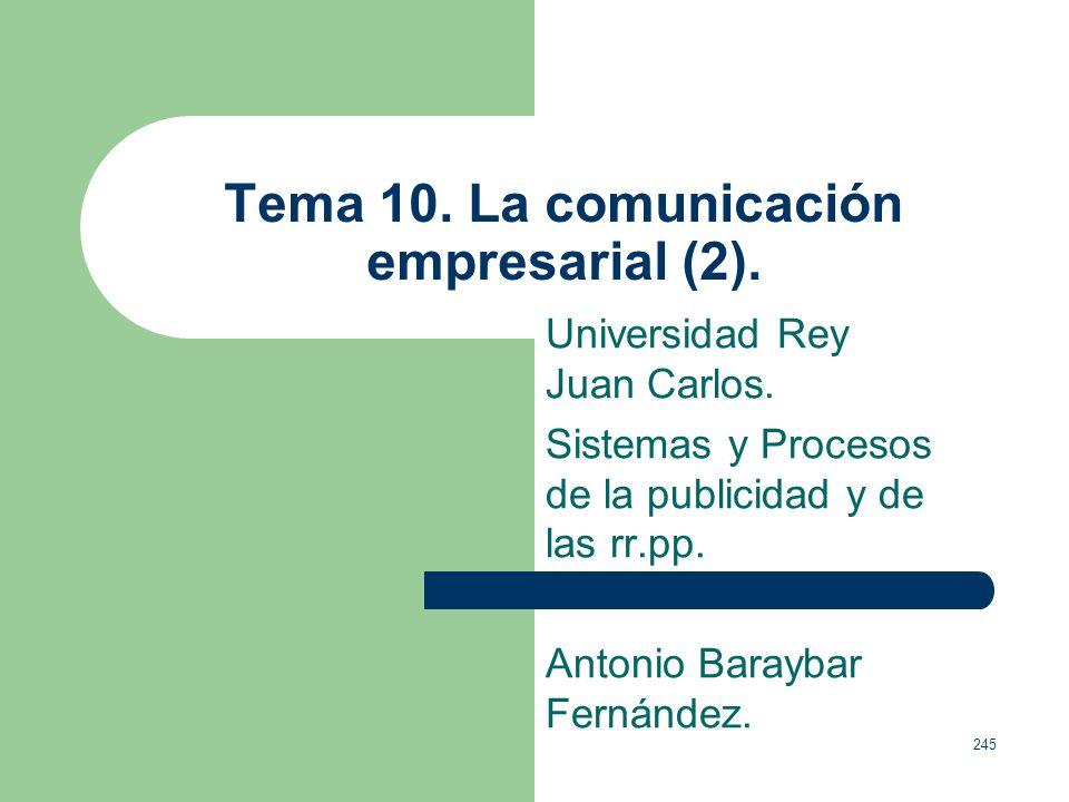 Tema 10. La comunicación empresarial (2).