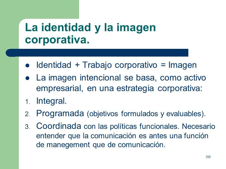 La identidad y la imagen corporativa.