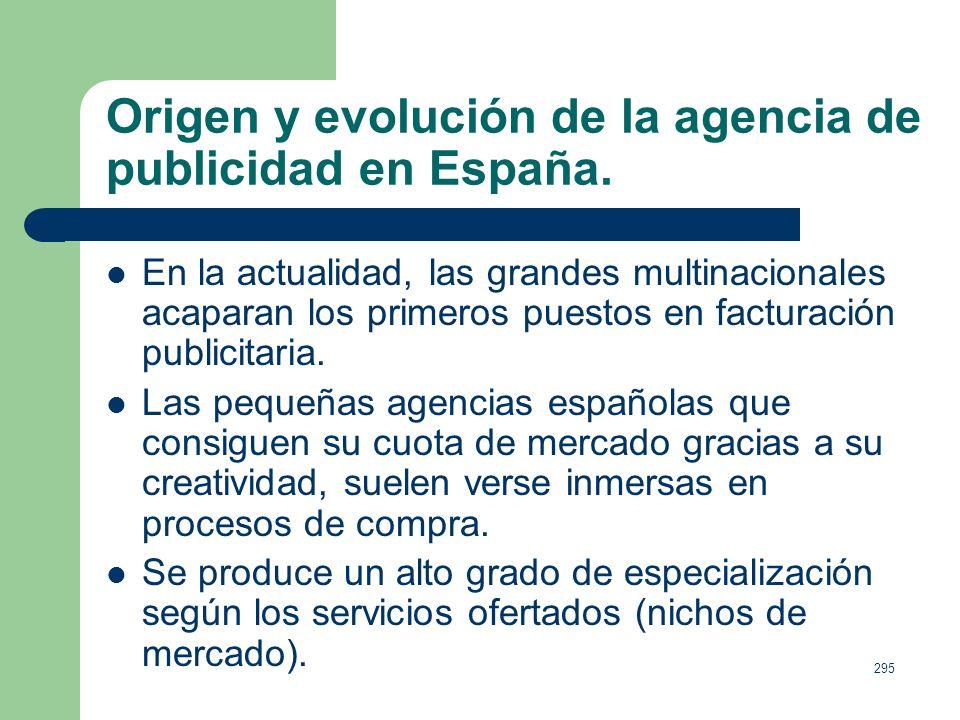 Origen y evolución de la agencia de publicidad en España.