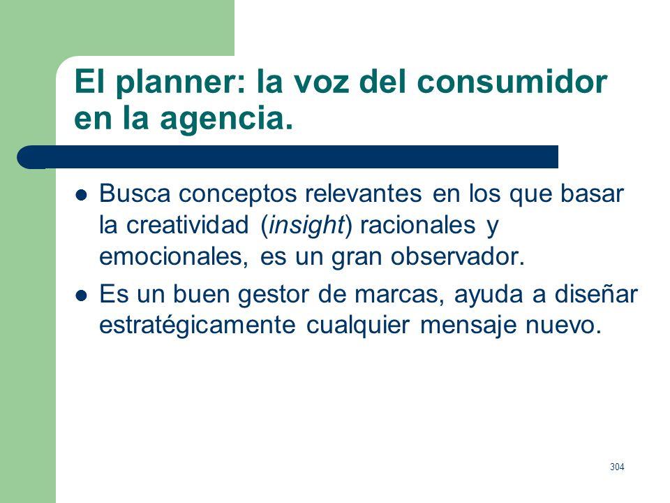 El planner: la voz del consumidor en la agencia.