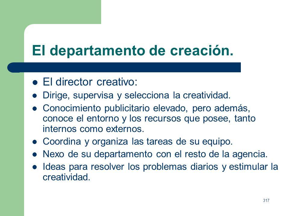 El departamento de creación.