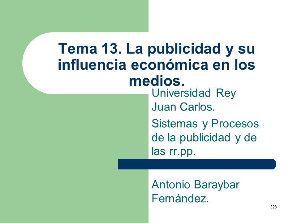 Tema 13. La publicidad y su influencia económica en los medios.