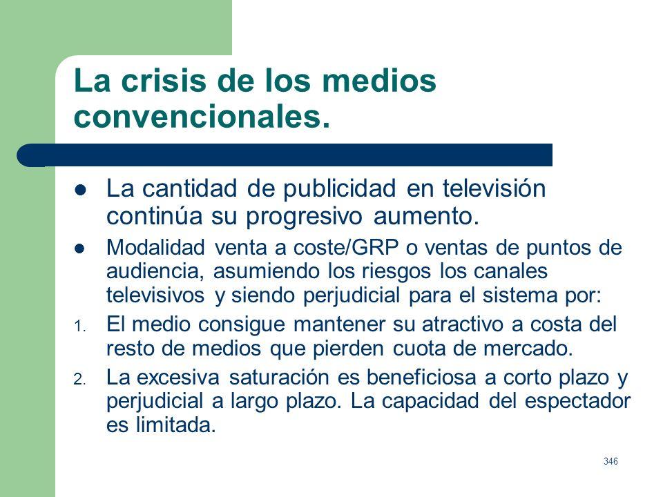 La crisis de los medios convencionales.