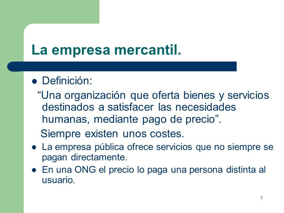 La empresa mercantil. Definición: