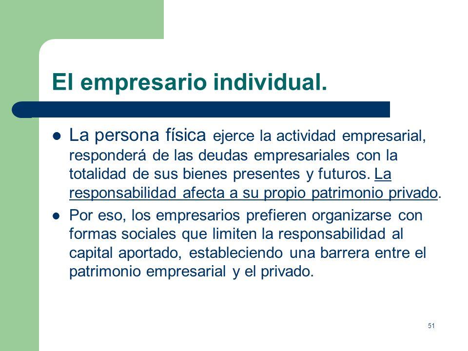 El empresario individual.