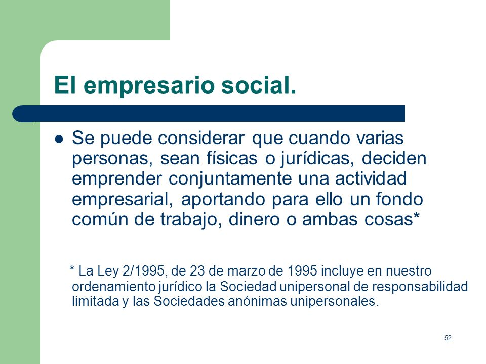 El empresario social.