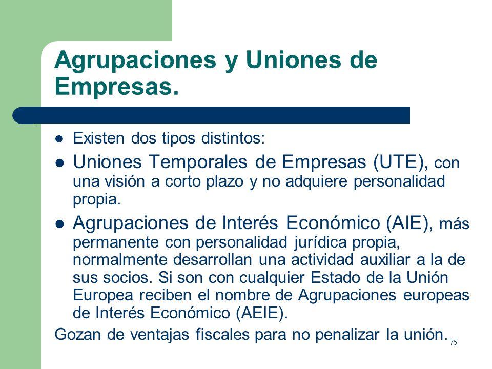Agrupaciones y Uniones de Empresas.
