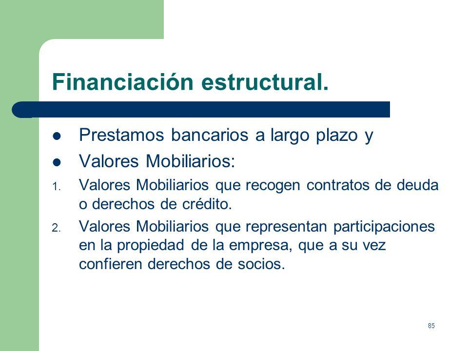 Financiación estructural.