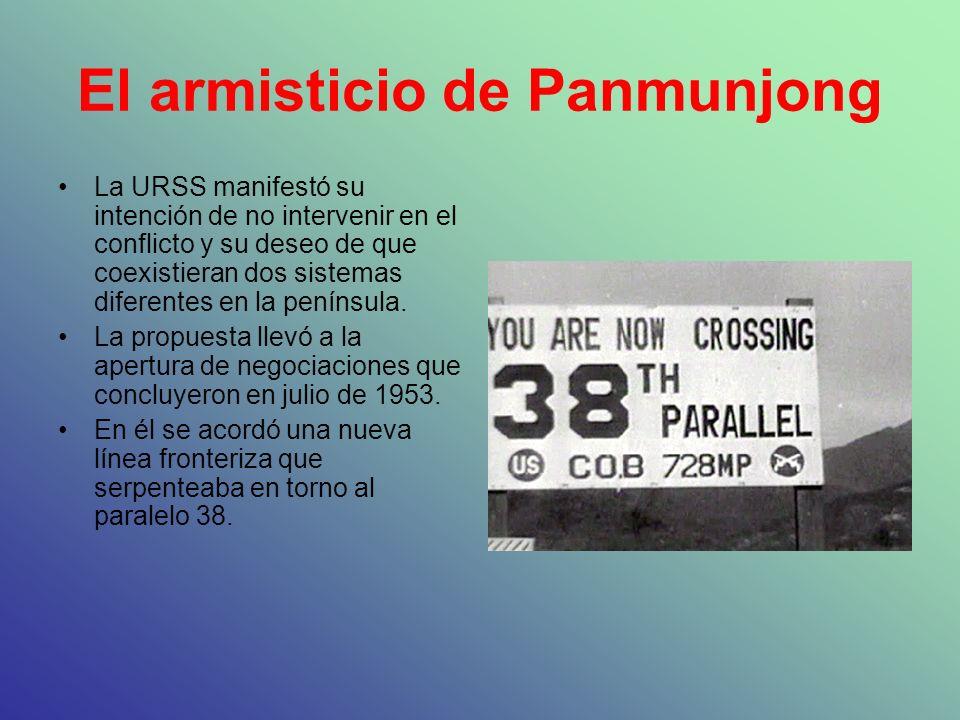 El armisticio de Panmunjong