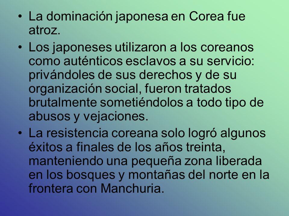 La dominación japonesa en Corea fue atroz.