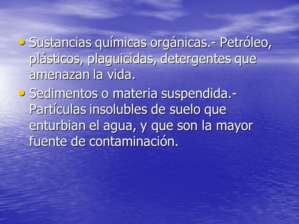 Sustancias químicas orgánicas